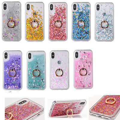 AU14.99 • Buy Ring Holder Glitter Quicksand TPU Shockproof Back Case For IPhone 10 X XS 5.8