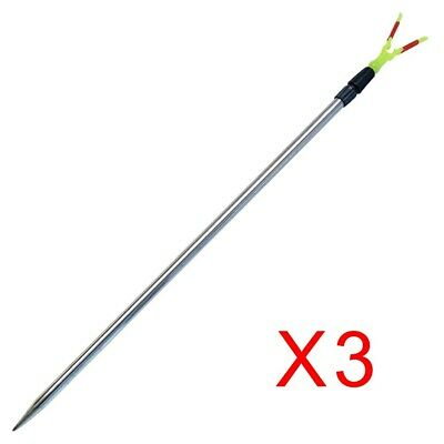 AU17.90 • Buy 3x Alloy Telescopic Bank Sticks Fishing Rod Holder Fishing Tackle Special Offer