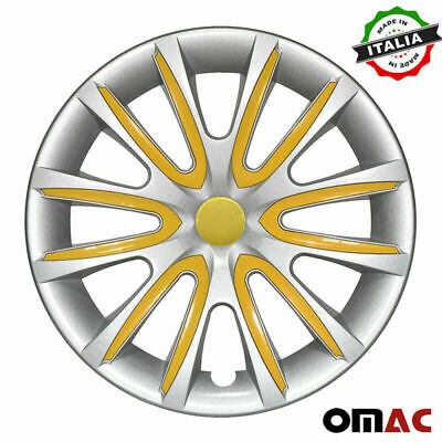 $59.90 • Buy 16  Inch Hubcaps Wheel Rim Cover For Mazda Gray With Yellow Insert 4pcs Set