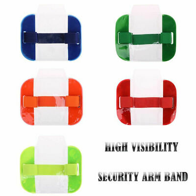 High Visibility Security Arm Band ID Badge Card Holder SIA Armband Black UK