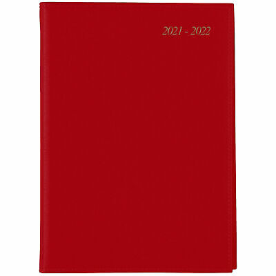 AU25.95 • Buy Cumberland Soho 2021 - 2022 Financial Year Diary A5 Day To Page Red 51SFY