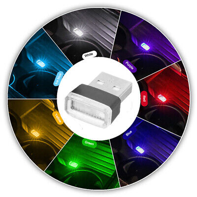 $0.99 • Buy 7 Color Mini USB LED Car Interior Light Neon Atmosphere Ambient Lamp Accessories
