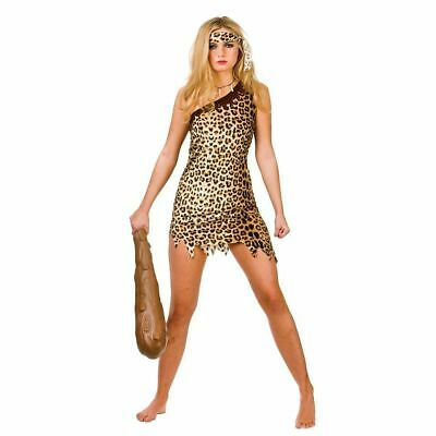 £10.99 • Buy Cute Cave Girl Ladies Fancy Dress Costume Caveman Themed Party Outfit 6/20