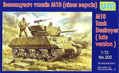 $15.20 • Buy M10 Tank Destroyer (late Version) << UM #202, 1:72 Scale