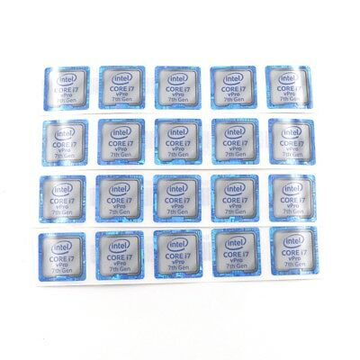 $ CDN9.20 • Buy  20pcs NEW CORE I7 VPro 7th 18*18mm Sticker Badge Label Case Decal Laptop ST052