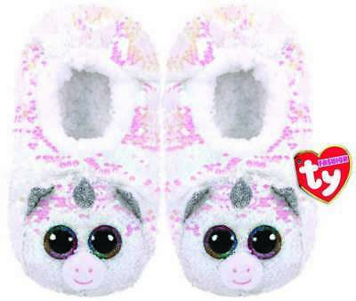 AU31.01 • Buy Ty Diamond Unicorn Slippers Sequin Small Medium Large New With Tags