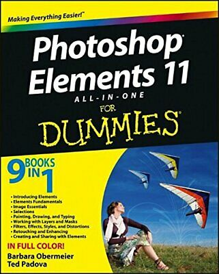 £5.99 • Buy Photoshop Elements 11 All� In� One For Dummies By Padova, Ted Book The Cheap
