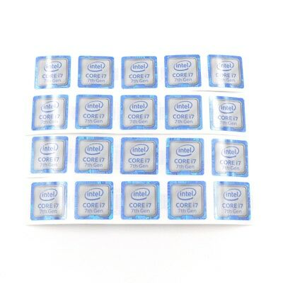 $ CDN7.58 • Buy 20x  NEW For CORE I7 7th 18*18mm Sticker Badge Label Case Decal Laptop ST050