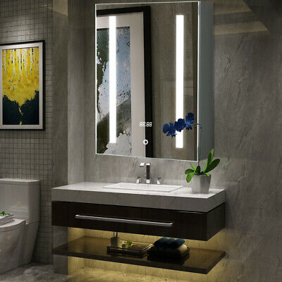 £159.95 • Buy Illuminated LED Bathroom Mirror Cabinet With Touch Sensor Switch Shaver Socket