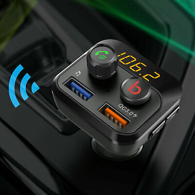£11.59 • Buy Bluetooth FM Transmitter Wireless In Car Radio MP3 Player USB Charger Handsfree