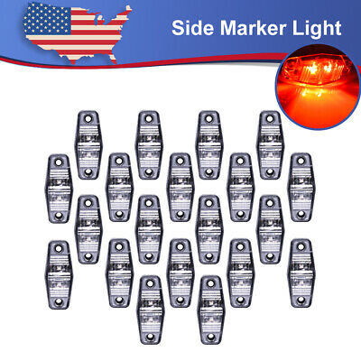 20x2.5 Red LED Universal Surface Mount Side Fender Marker Light Trailer RV Truck • 34.05$