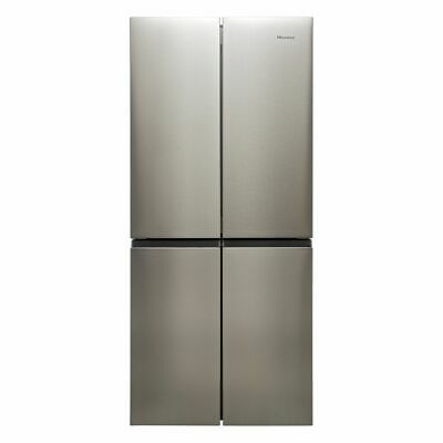View Details Hisense RQ563N4AI1 79cm Frost Free American Fridge Freezer Stainless Steel • 599.00£