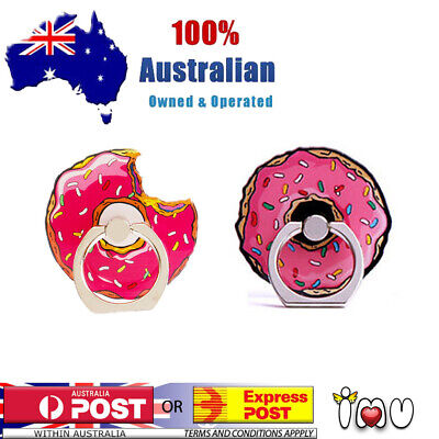 AU7.44 • Buy Donut Food Funny Finger Ring Phone Holder Pop Stand Grip Socket Iphone Samsung