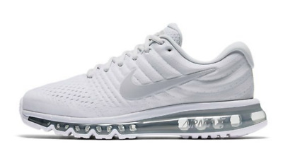 $110 • Buy Nike Air Max 2017 Mens Running Lifestyle Shoes 849559 009 Pure Platinum Grey NIB
