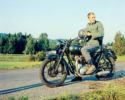 The Great Escape, Steve McQueen - Motorcycle 1963. Canvas Framed Print 30 X20  • 20£