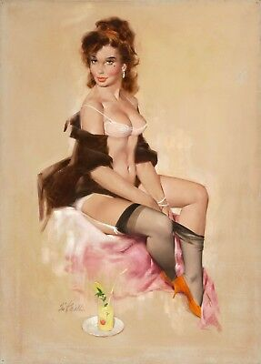 £20 • Buy Pin Up Gil Elvgren   PICTURE CANVAS WALL ART  18X24