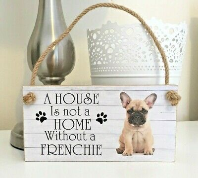 PERSONALISED FRENCH BULLDOG FRENCHIE DOG PUPPY PHOTO Wall Plaque Sign Pet Gift • 6.25£