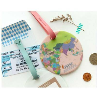 AU2.08 • Buy Travel Accessories Map Luggage Marker Tag Women World Suitcase ID Address LG