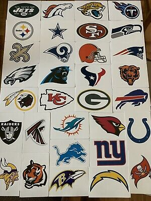 $1.29 • Buy NFL Logo Football Decal Stickers Choose Your Team 32 Teams Decor Free Shipping