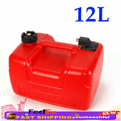 $44 • Buy 12L Portable Boat Outboard Fuel Tank 3.2 Gallon Marine Outboard Red W/ Connector