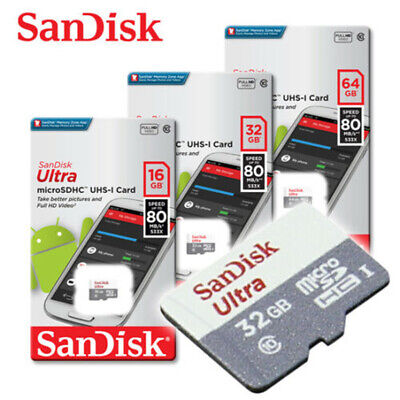 SanDisk Ultra 16GB 32GB 64GB 128GB Micro SD HC Flash Memory Card 80MB Class 10  • 4.92$
