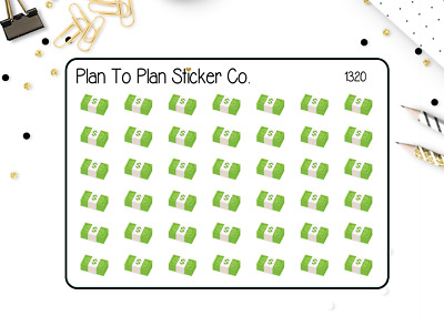 $2.28 • Buy 1320~~Stack Of Money Planner Stickers.