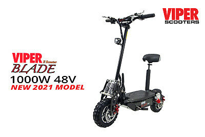 £540 • Buy Viper Blade 1000W 48V Electric Scooter New 2021, All Terrain Tyres