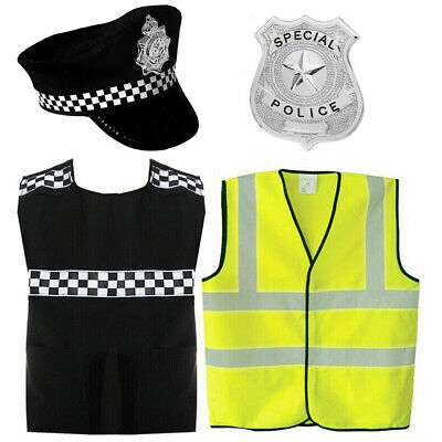 Kids Childrens Policeman Outfit Fancy Dress Police Cop Costume Boys Girls Lot • 5.99£