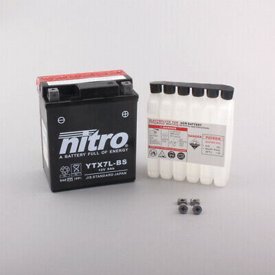 Nitro AGM Sealed Activated Battery YTX7L-BS Honda CA 125 Rebel • 34.36£