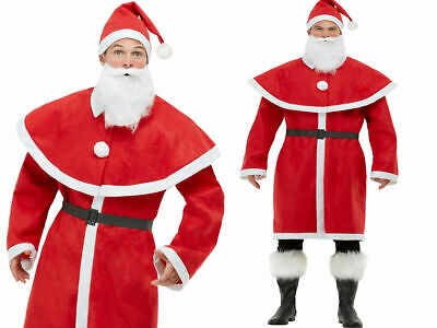 Father Christmas Santa Costume Adullts Mens Santa Claus Fancy Dress Outfit • 10.99£