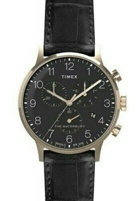 $76.42 • Buy Timex The Waterbury Men's Watch Chronograph 40mm Black TW2R72000