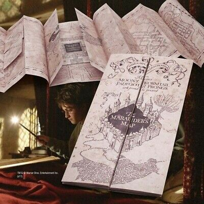 $3.59 • Buy Harry Potter Hogwarts The Marauder's Map Paper The Wizarding World Map