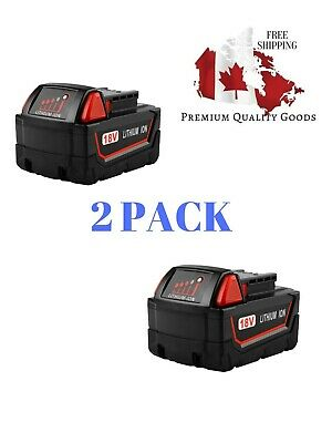 $ CDN95.99 • Buy Powilling 2Pack 18V 5.0Ah Replacement M18 Battery For Milwaukee Red Lithium XC