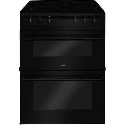 £399 • Buy Amica AFC6520BL Free Standing A/A Electric Cooker With Ceramic Hob 60cm Black