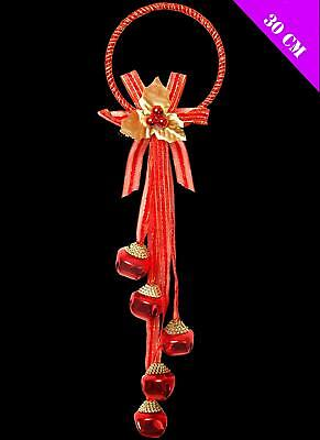 30cm Red Jingle Bell Door Hanger Christmas Wall Window Decoration • 3.49£