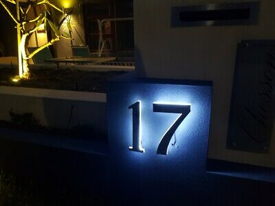 LED Illuminated Numbers House Farm Sign Stainless Steel Marine Grade 3D • 55.76£