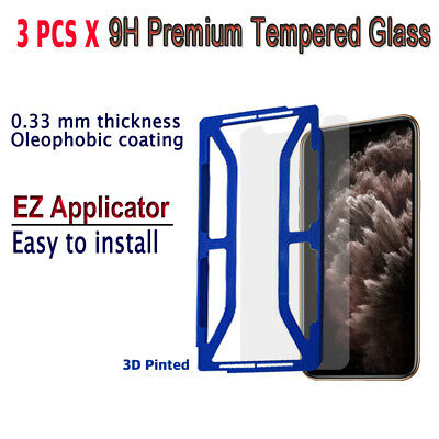 AU10.23 • Buy 3pcs X Tempered Glass Screen Protector With EZ Applicator For IPhone 11 Pro
