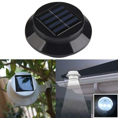 Solarize ®  Set Of 4 Solar Gutter Fence Lights, Garden, 3 LED Outdoor  Wall Roof • 14.95£