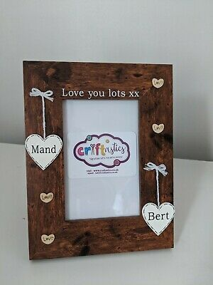 Love You Lots Personalised 4x6 Wooden Photo Frame Gift For Girlfriend Boyfriend  • 15.99£