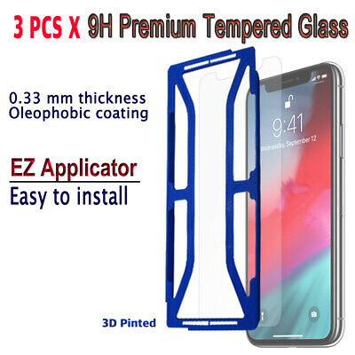 AU10.23 • Buy 3pcs X Tempered Glass Screen Protector With EZ Applicator For IPhone XS MAX IXMG