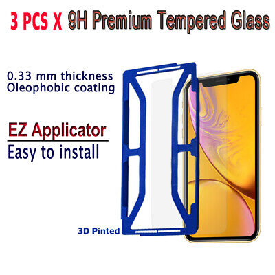AU10.23 • Buy 3pcs X Tempered Glass Screen Protector With EZ Applicator For IPhone XR IXRG3