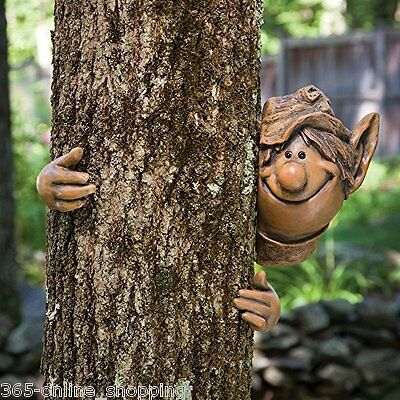 £12.99 • Buy Garden Elf Tree Peeker Novelty Ornament Decoration Funny Face Fence Quirky