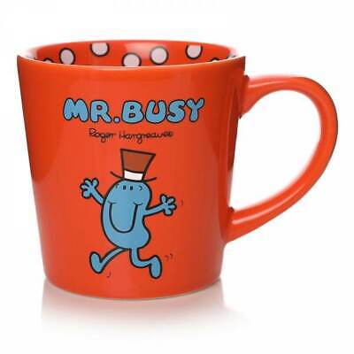 £11.95 • Buy Official Mr Men Little Miss Mr Busy Tapered Coffee Mug Cup New In Gift Box *