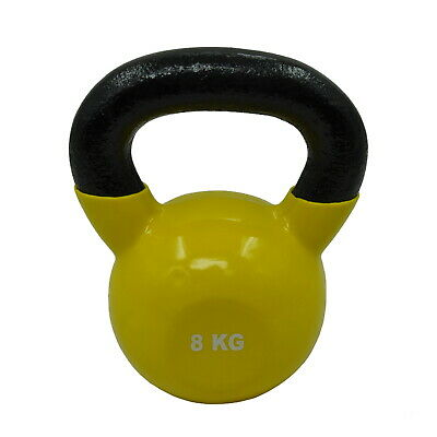 AU58.82 • Buy 8kg Iron Vinyl Kettlebell Weight - Gym Use Russian Cross Fit Strength Training