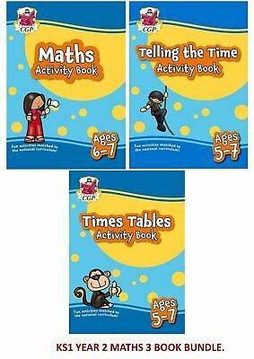 Ks1 Year 2 Ages 6-7 Maths Time Table & Telling Time 3 Book Bundle Fun Learning • 10.99£
