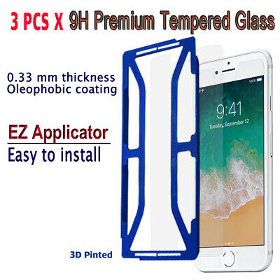 AU10.23 • Buy 3pcs X Tempered Glass Screen Protector With EZ Applicator For IPhone 8Plus I8PG3
