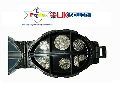 Metal Detecting Finds, Turtle Shaped Small Finds Box, 12 Compartments. Black.NEW • 5.69£