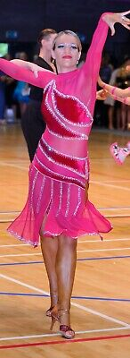 £650 • Buy Competition Latin  Dress By Dance Couture Made From Chrisanne Clover Fabrics