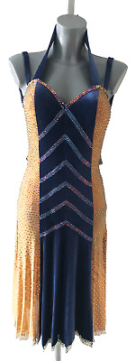 £450 • Buy Competition Latin Dance Dress Made From Chrisanne Clover Fabrics