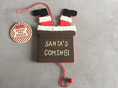 £4.50 • Buy Sass And Belle Santa's Coming Chimney Legs Decoration